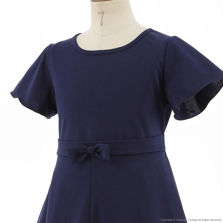 フレアワンピース 子供服 フォーマル ネイビー 紺