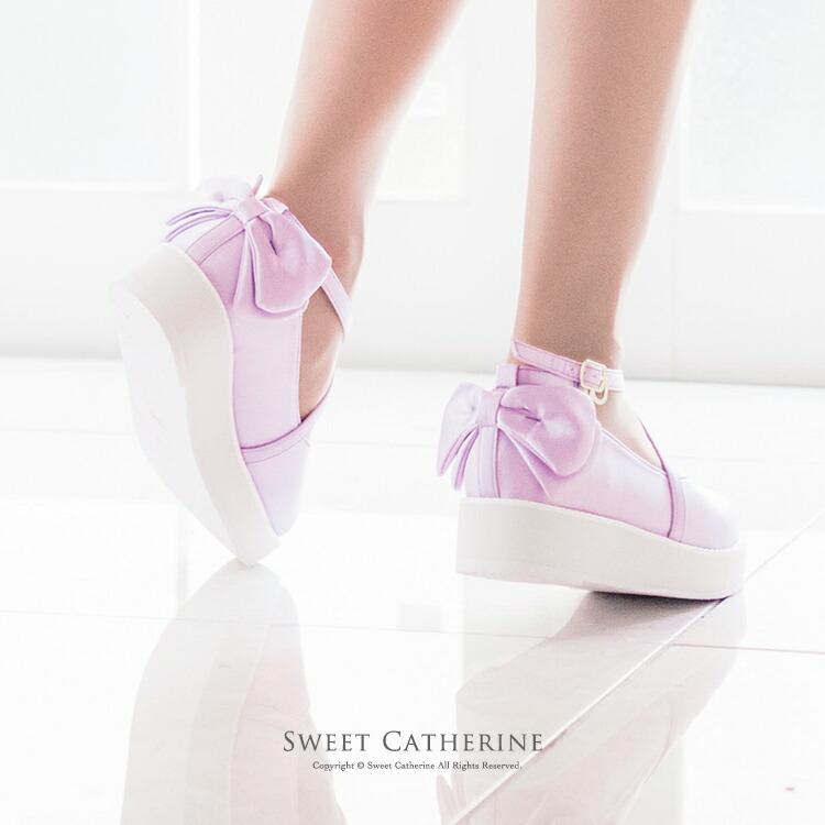 ロリィタ 靴 紫 ライラック