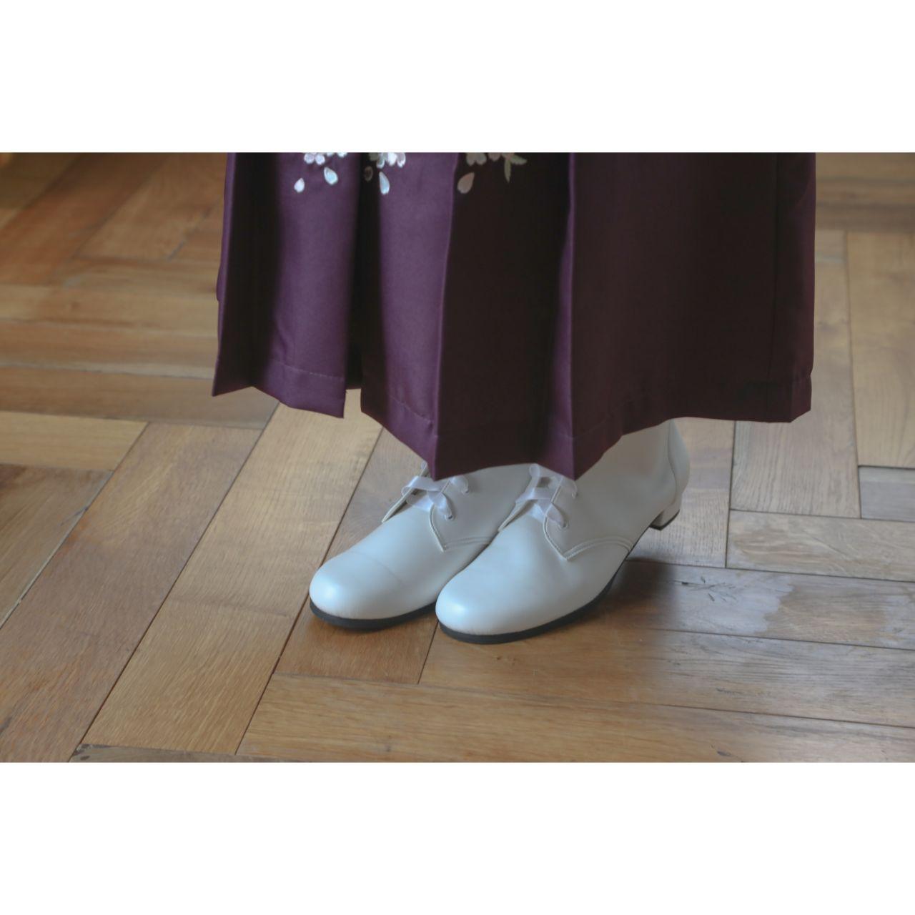 袴用ブーツ編み上げリボンブーツ日本製高級子供靴フォーマル