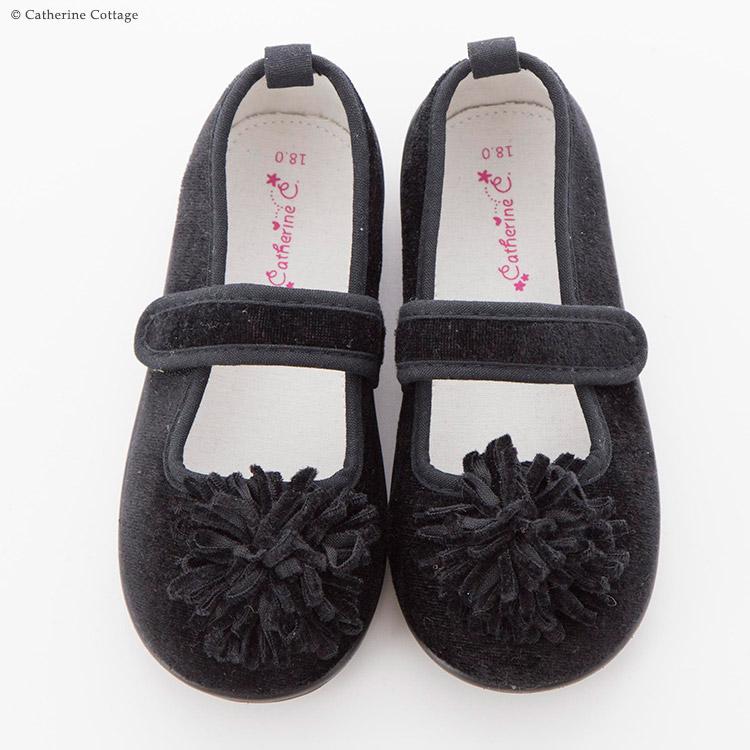 子供シューズ フォーマル ブラック 黒 子供靴 キッズシューズ ベロア 秋冬 ベルベット プチプラ