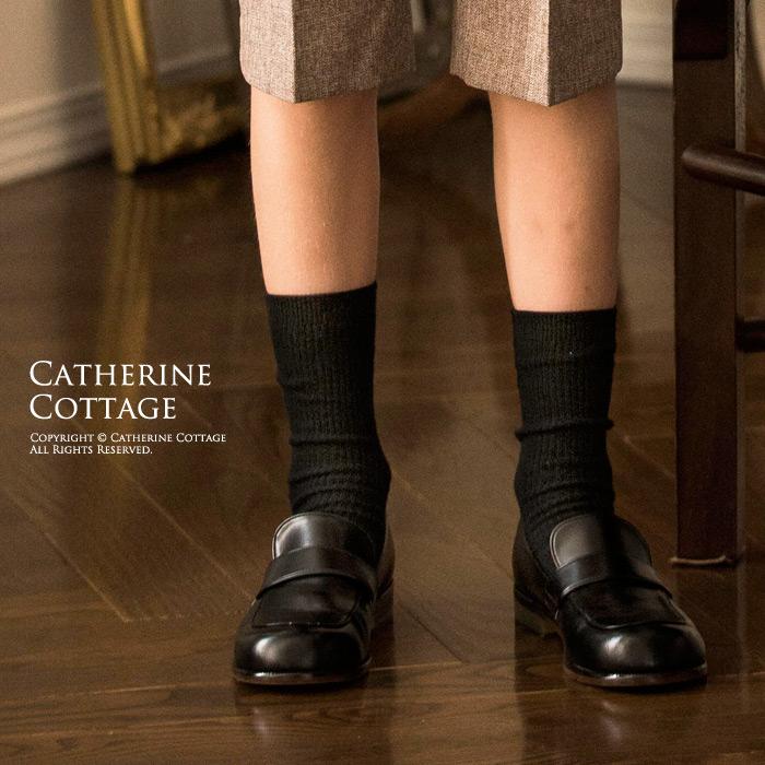靴下 クルーソックス モデル着用