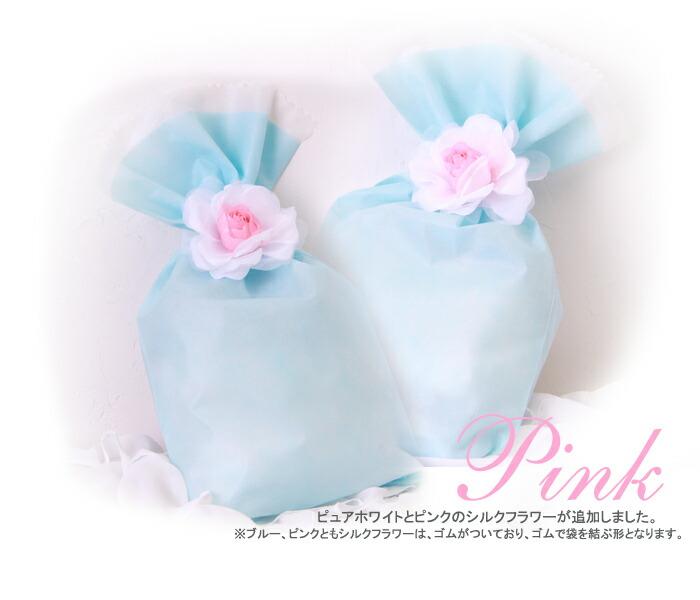 桃色ピンクのバラのラッピング