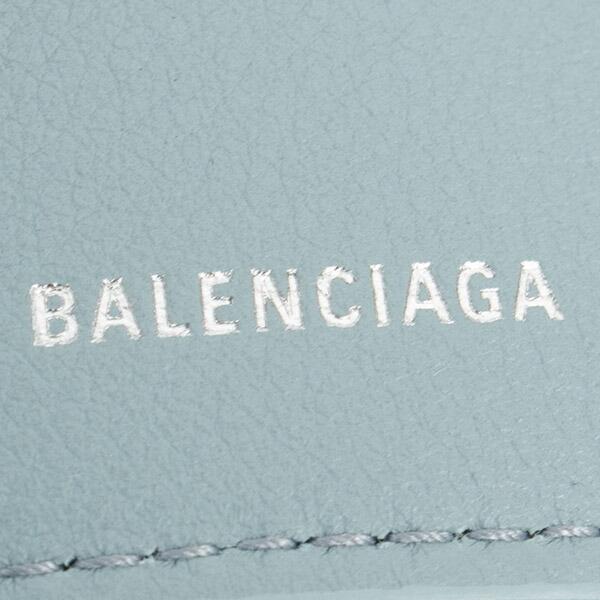 バレンシアガ 財布 三つ折り財布 ミニ財布 レディース ペーパー ミニウォレット ブラック BALENCIAGA 391446 DLQ0N 4005 スマートウォレット 薄型 薄い