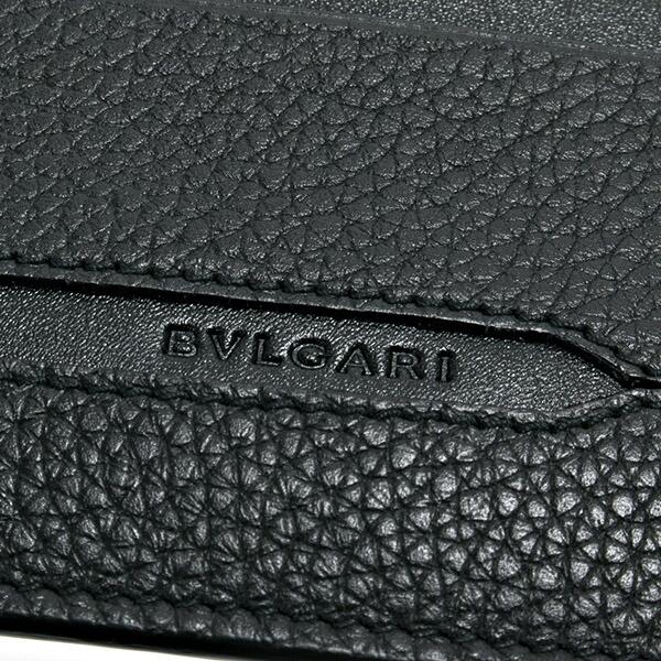 ブルガリ BVLGARI カードケース パスケース メンズ カードホルダー OCTO オクト ブラック 36969 BLACK
