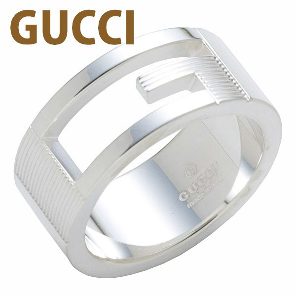 グッチ GUCCI リング レディース メンズ 指輪 ブランデッド レギュラーGリング シルバー 032660 09840 8106 SILVER アクセサリー