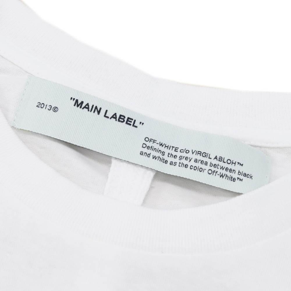 オフホワイト OFF-WHITE Tシャツ 長袖 スパイダープリント ホワイト OMAB022S201850010124 ARACHNO ARROW DOUBLE SLEEVE T WHITE BORD