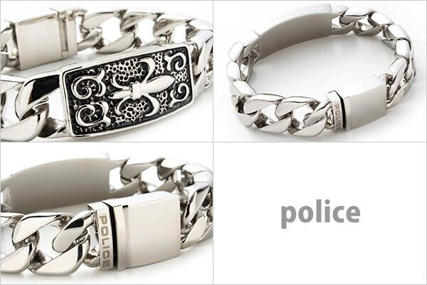 ポリス POLICE ブレスレット メンズ 腕輪 メルシー MERCY ユリ 紋章 シルバー 25481BSS-S SILVER