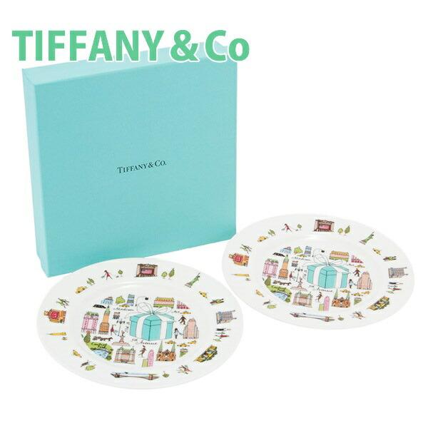 ティファニー TIFFANY&Co デザートプレート プレート お皿 5TH アベニュー ボーンチャイナ ニューヨーク  2点セット 陶器