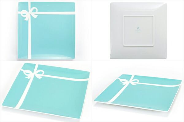 ティファニー TIFFANY&Co ブルー ボックス プレート ボーンチャイナ 食器