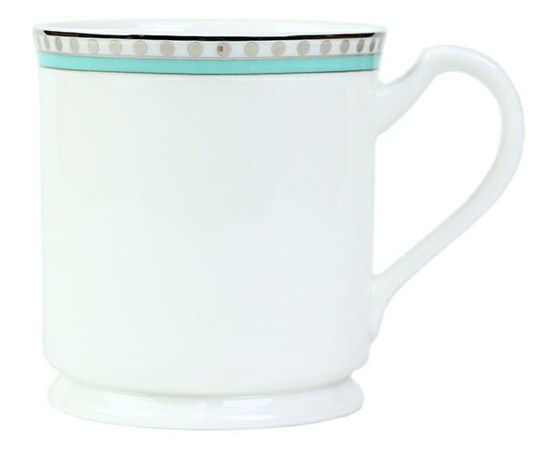 ティファニー TIFFANY&Co マグカップ ペアマグカップ プラチナ ブルー バンド マグカップ ボーンチャイナ