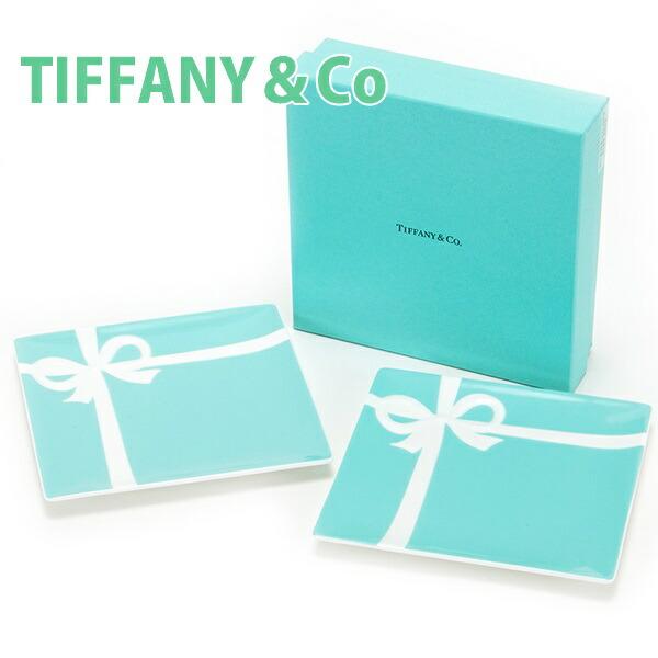 ティファニー TIFFANY&Co ブルー ボウ デザート プレート 食器 洋食器 皿 ブルーボックス 陶磁器 陶器 2枚セット ペア