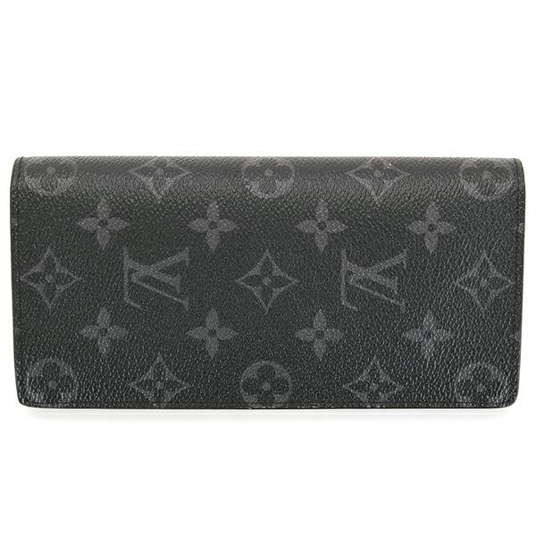 ルイヴィトン LOUIS VUITTON 財布 二つ折り財布 メンズ モノグラム エクリプス ポルトフォイユ ブラザ M61697