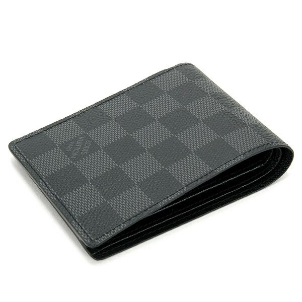 ルイヴィトン LOUIS VUITTON 財布 二つ折り財布 メンズ マネークリップ ポルトフォイユ・パンス ダミエグラフィット N41623