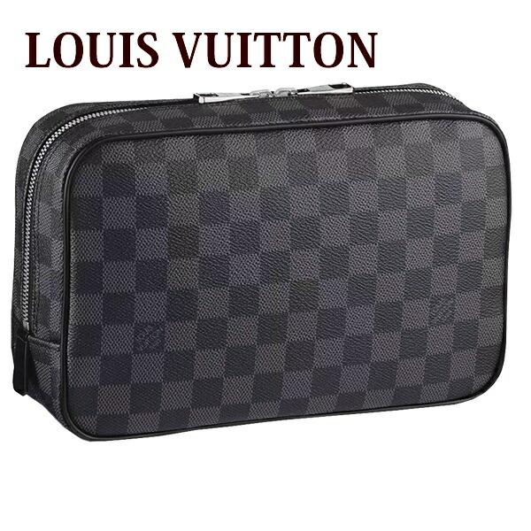 ルイヴィトン louisvuitton 新品 バッグ 鞄 かばん メンズ トラベルポーチ トゥルース・トワレ GM ダミエ・グラフィット N47521