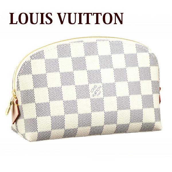 ルイヴィトン ヴィトン LOUIS VUITTON ポーチ レディース コスメポーチ 化粧ポーチ ダミエアズール ポシェット・コスメティック N60024