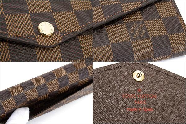 ルイヴィトン LOUIS VUITTON 財布 長財布 レディース ポルトフォイユ サラ ダミエ N63209