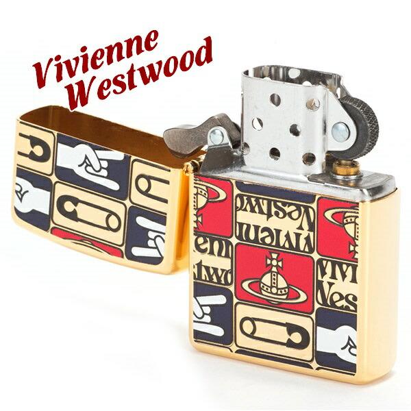 ヴィヴィアンウエストウッド Vivienne Westwood ライター メンズ レディース ジッポライター ZIPPO TAGS ゴールド 121800-18-F