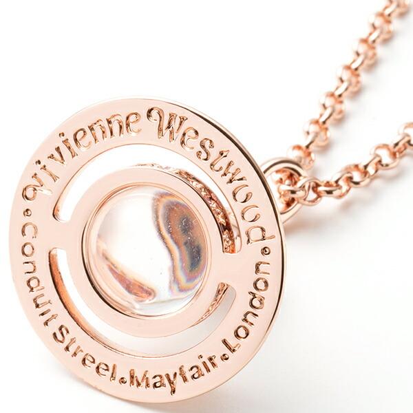 ヴィヴィアンウエストウッド Vivienne Westwood ネックレス メンズ レディース ペンダント タイニーオーブペンダント ピンクゴールド 752014B/3 PINK GOLD