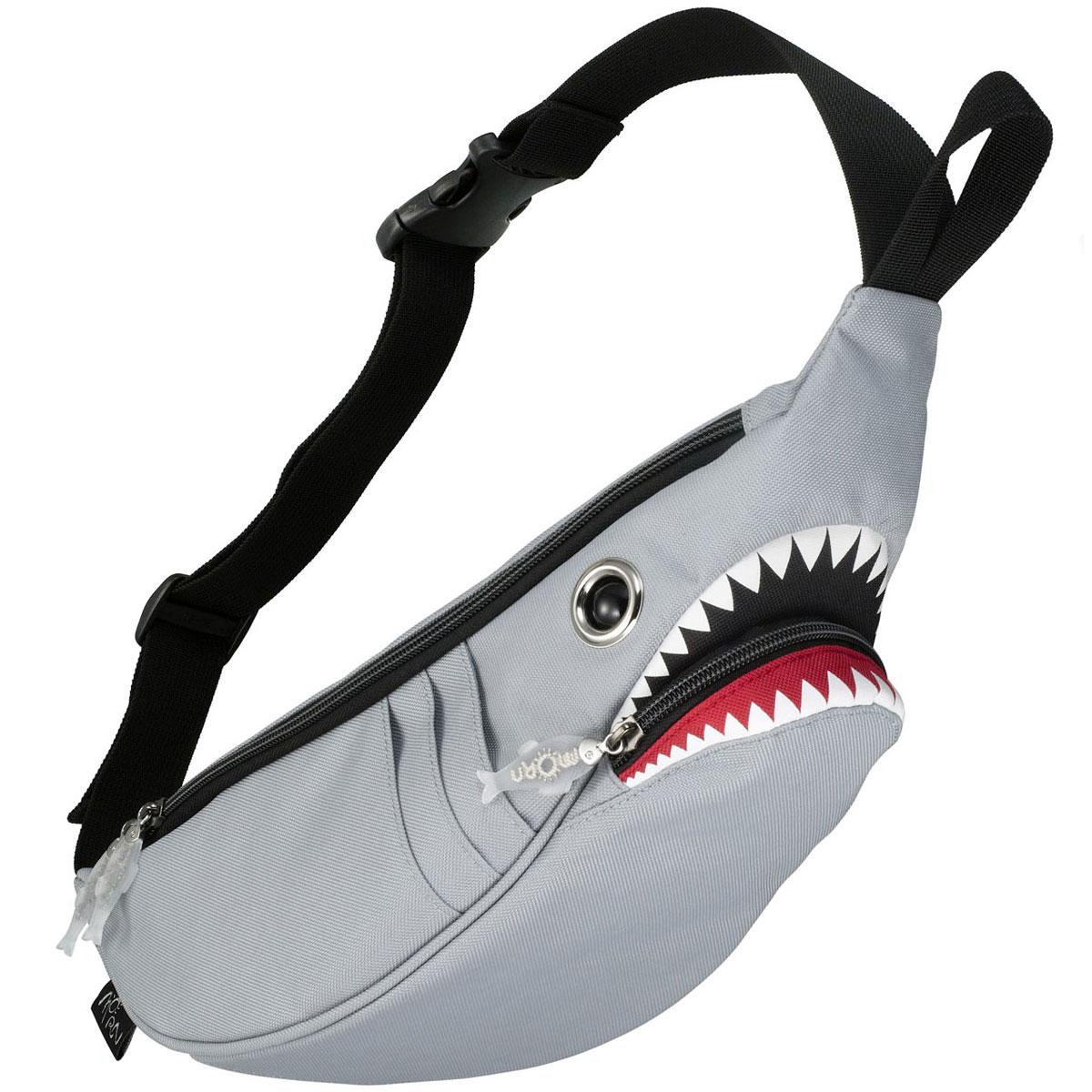 ウエストポーチ MORN CREATIONS シャークウエストポーチ サメバッグ 正規品 ウエストバッグ ウエストバック モーンクリエイションズ シャークバッグ グレー