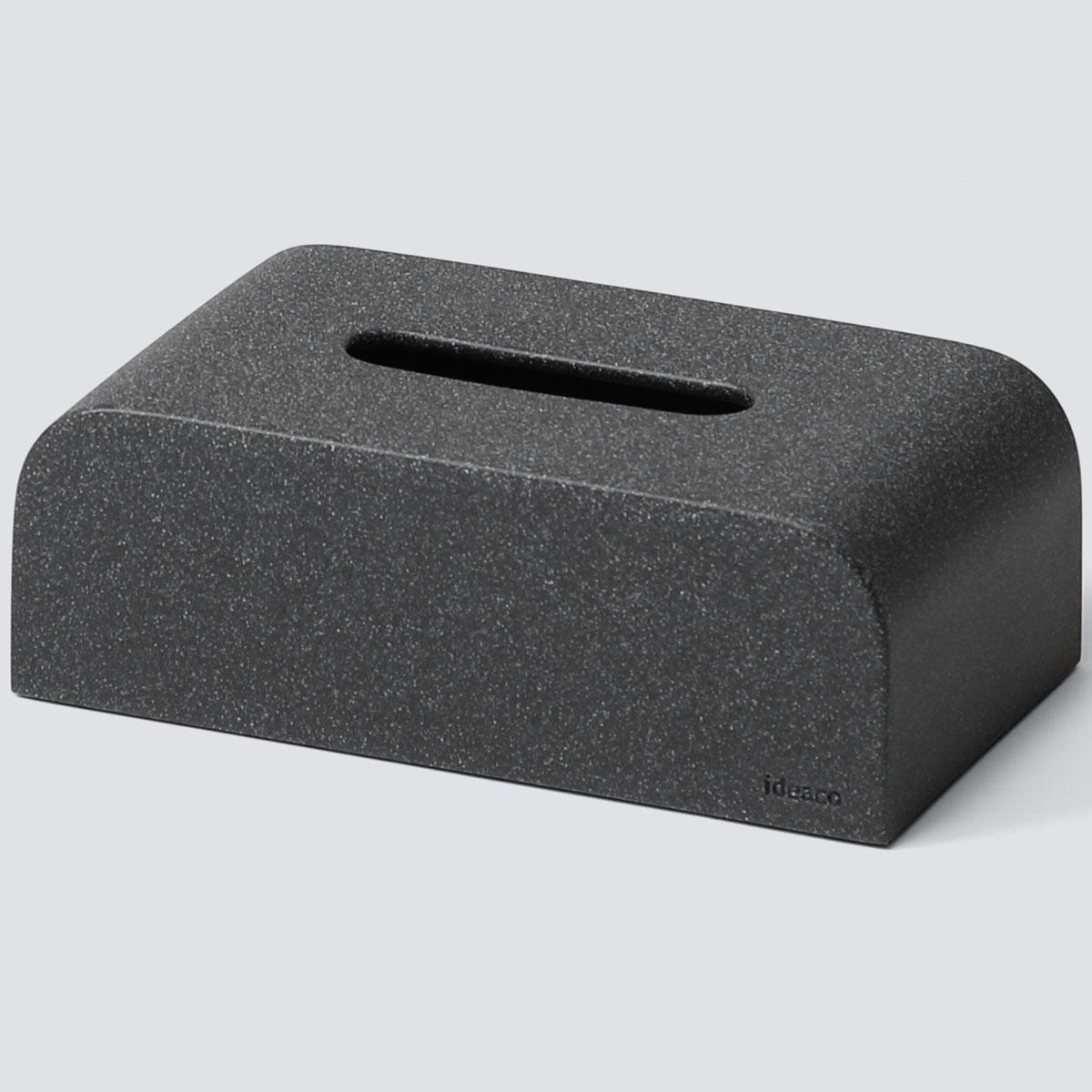 ティッシュケース ideaco ティッシュケース SP ソフトパックティッシュ・袋ティッシュ専用 ティッシュカバー 袋入りティッシュ用 イデアコ Tissue Case エスピー ストーンサンドブラック
