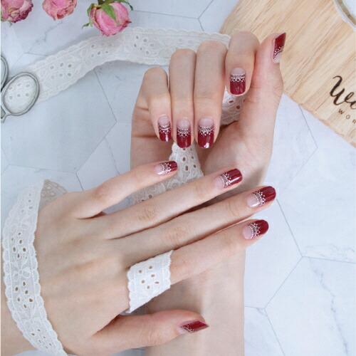 GLOSSYBLOSSOM ジェルネイルシール Winter Red Glamorous gb45183