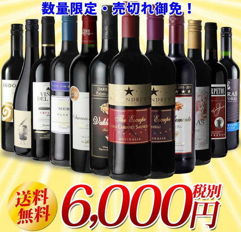 赤だけ!特選ワイン12本セット