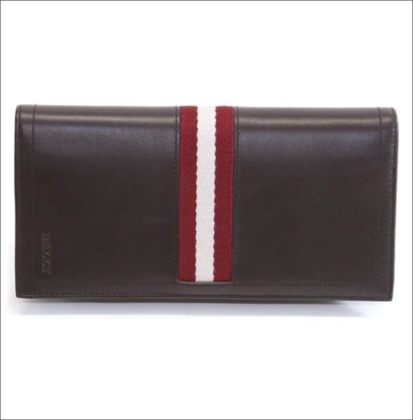 バリー TALIRO 271 CHOCOLATE ファスナー小銭入れ付 二つ折り長財布 カーフ