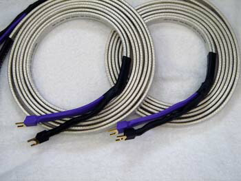 Bi-wired, T1 spade terminated, Big Silver Oval, Speaker Cable