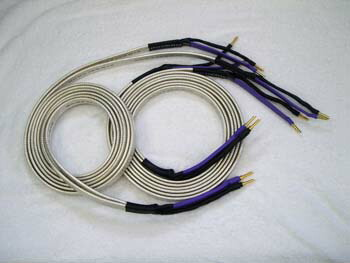 Bi-wired, Banana plugs terminated, Big Silver Oval, Speaker Cable