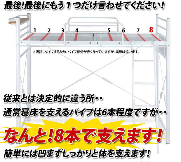 bon-like  라쿠텐 일본: 싱글 침대 싱글 침대 파이프 침대 로프트 ...