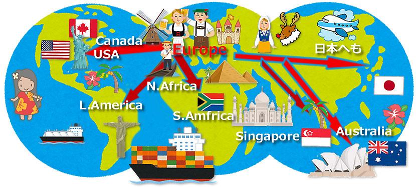 世界へ輸出