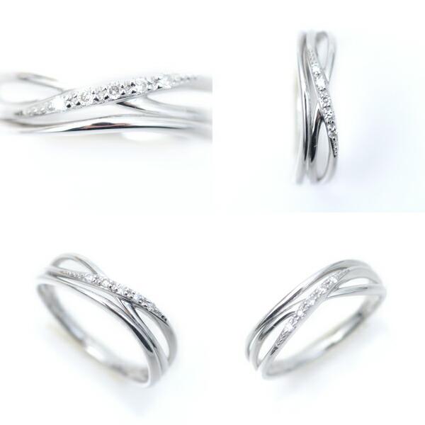 プラチナ リング 指輪 Pt900 地金リング Pt 天然ダイヤモンド 3連調 デザイン ラッキーリング お守り 小指用 pinky 小さいサイズ