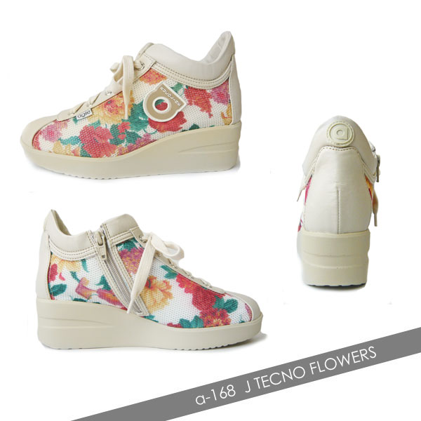 ルコライン 靴 アージレ RUCO LINE TECNO FLOWERS フラワー メッシュ 花柄マルチカラー agile-168OR