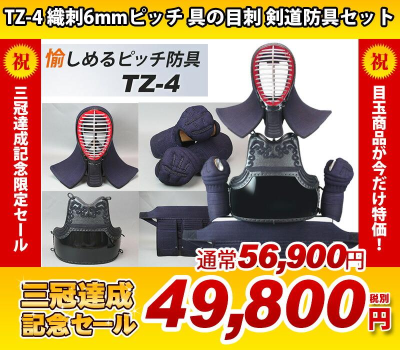 TZ-4 織刺6mmピッチ 具の目刺 剣道防具セット