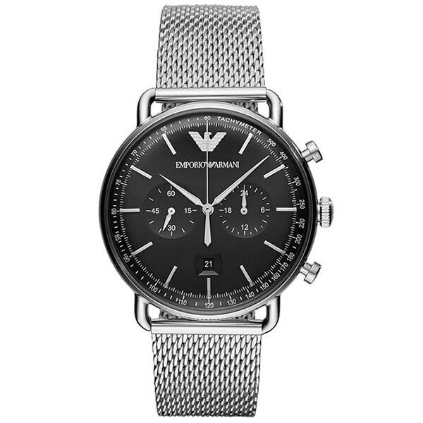 【並行輸入品】EMPORIO ARMANI エンポリオアルマーニ 腕時計 AR11104 メンズ AVIATOR アビエーター クロノグラフ クオーツ