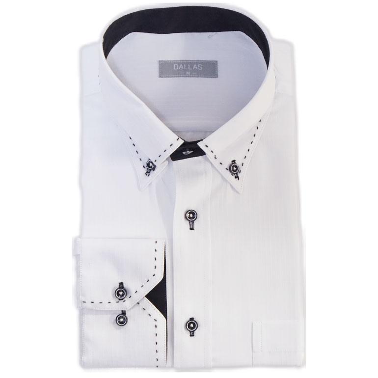 ワイシャツ Yシャツ 長袖 メンズ ビジネスシャツ カッターシャツ ドレスシャツ オシャレ フォーマル