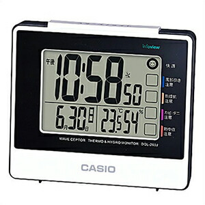 CASIO カシオ クロック DQL-260J-7JF 電波時計 目覚まし時計