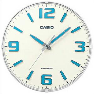 CASIO カシオ クロック IQ-1009J-7JF ホワイト 電波 掛時計