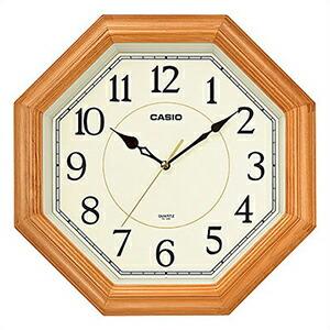 CASIO カシオ クロック IQ-123S-7JF 掛時計 壁掛け スムーズ秒針 木枠