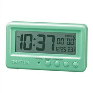 RHYTHM リズム時計 クロック 8RDA72SR05 防水置時計 スタンダード