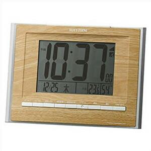 リズム時計 CITIZEN シチズン クロック 8RZ172SR07 電波目覚まし時計 フィットウェーブD172