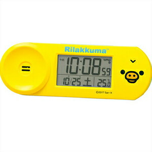 SEIKO セイコー クロック CQ147Y デジタル電波 目覚まし時計 リラックマ キイロイトリ
