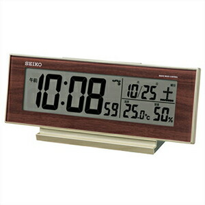 SEIKO セイコー クロック SQ788B デジタル電波 目覚まし時計