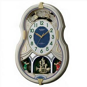 リズム時計 CITIZEN シチズン クロック 4MN543RH18 電波掛時計 からくり時計 スモールワールドカラーズ