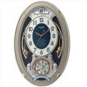 リズム時計 CITIZEN シチズン クロック 4MN544RH18 電波掛時計 からくり時計 スモールワールドウィッシュ