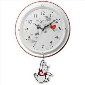 リズム時計 CITIZEN シチズン クロック 8MX407MC03 掛時計 振り子時計 くまのプーさん