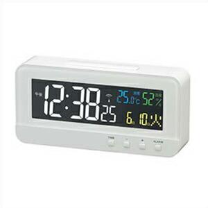 NOA ノア精密 クロック T-684 WH 電波 目覚まし時計 MAG マグ デジタル カラーハープ ホワイト