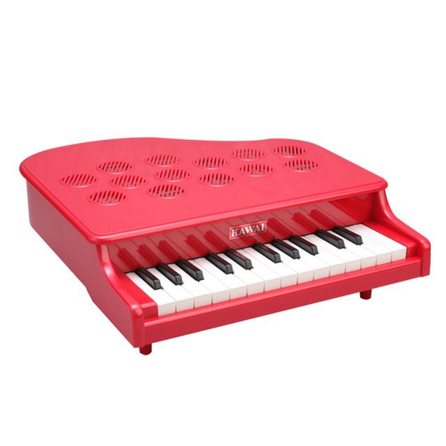 【送料無料】カワイ ミニピアノ P-25(ピンク/レッド)【知育玩具】【おもちゃ】【知育教材】【ピアノ】【子供用】【キッズ】