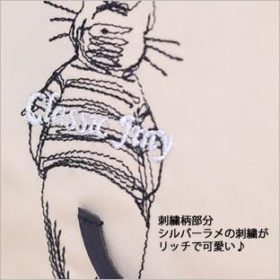 【ネコポスorゆうパケット可】クラシックジニー ポーチ (ノアファミリー猫グッズ ネコ雑貨 ねこ柄)  051-A706 2016AW