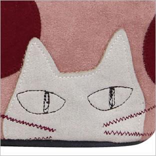 【ネコポスorゆうパケット可】がま口ポーチ (ノアファミリー猫グッズ ネコ雑貨 ねこ柄)  051-A716 2016AW